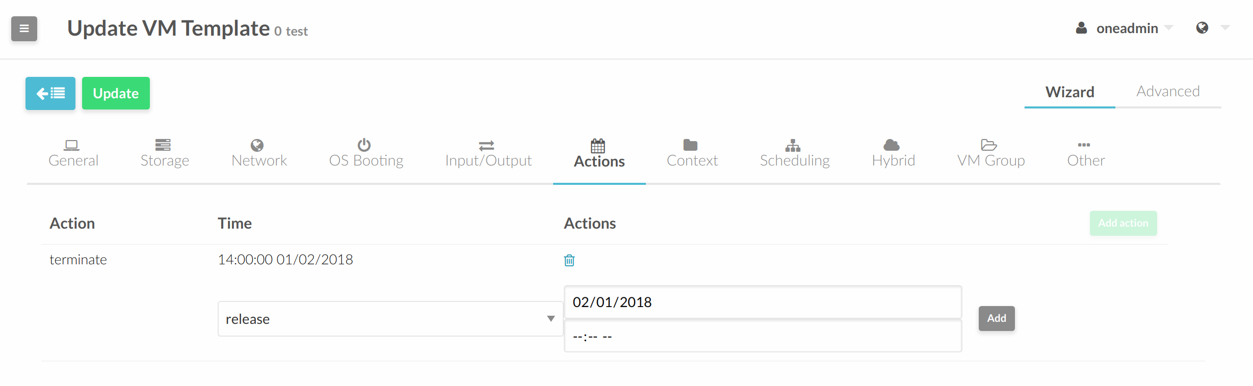 sched actions 5.6
