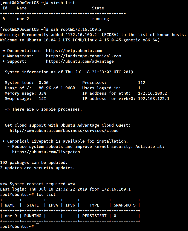 Using LXD on CentOS Hosts with Nested Virtualization – OpenNebula