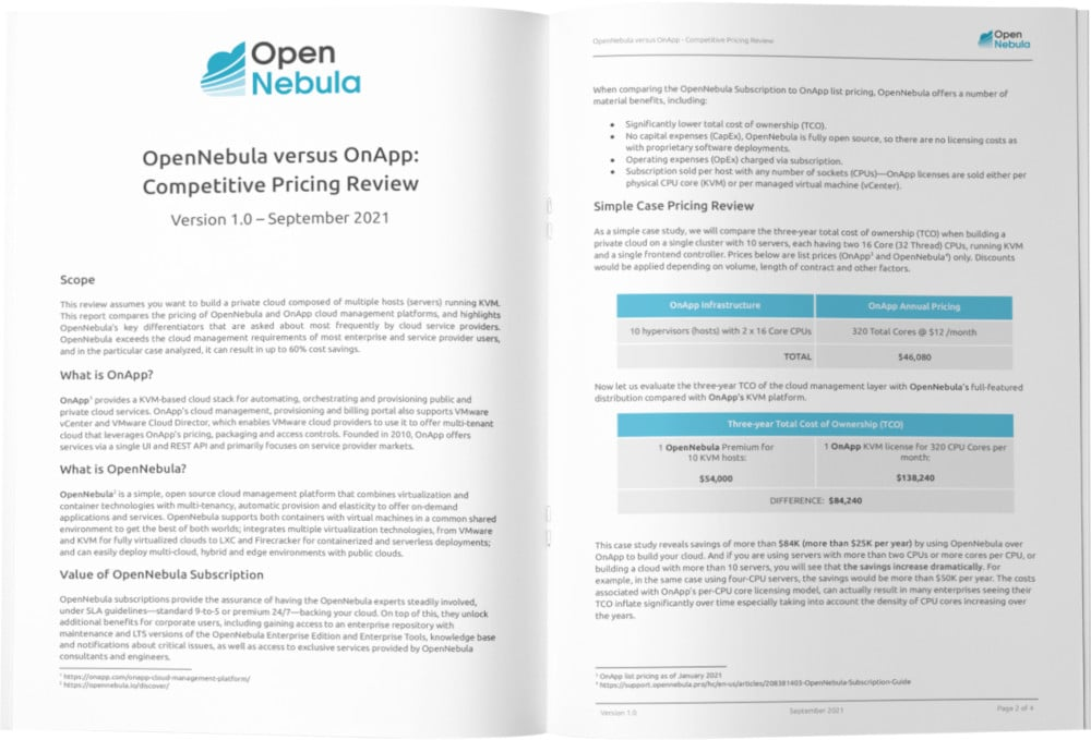 Choosing the Right Storage for Your Cloud by OpenNebula